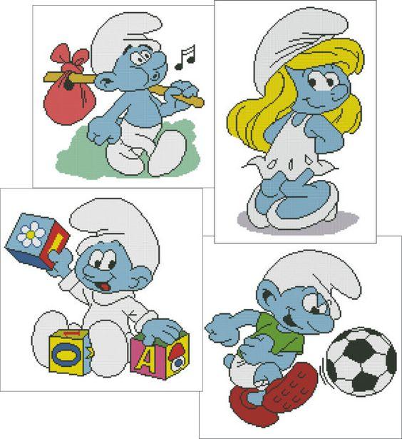 Eva's Designs: SET of Harmony Smurf Baby Smurf von EvasDesignsBg
