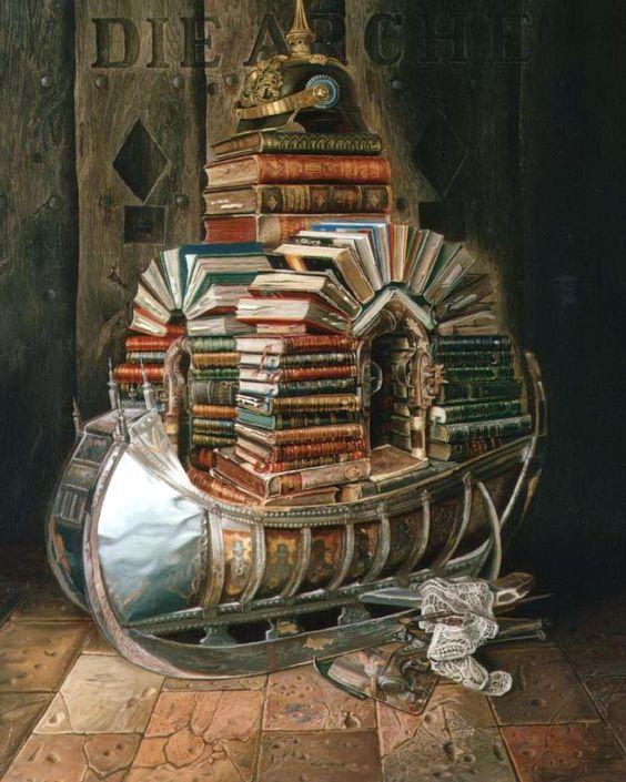 suggestiva biblio-arca!  [Michael Lassel, Die Arche]: