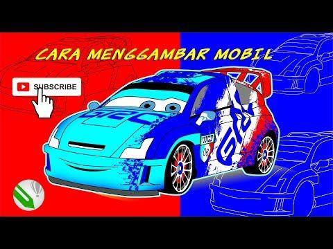 Tutorial Cara Gambar Mobil Balap Raoul Car Maqueen 2 Youtube Mobil Balap Kartun Lucu Kartun