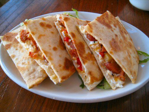 Quesadillas, plato típico de la comida Mexicana