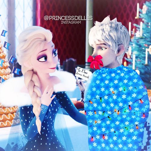 All I Want For Christmas Is You North Actually Did It It S Hilarious Jack And Elsa Jack Frost And Elsa Jack Frost