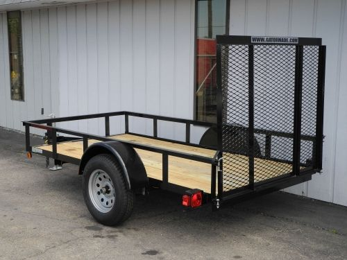 This new 5x10 steel ramp gate utility trailer is a for 5x10 wood floor trailer