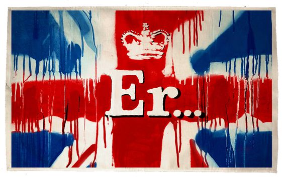 Commissioned limited edition print of the Union Jack by Banksy for the Queen's Diamond Jubilee - available through Pictures On Walls
