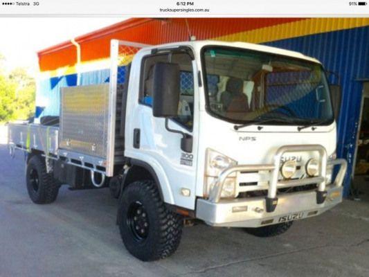 Isuzu Nps 4x4truck 4x4 Truck Isuzu Off Road Camping Work Truck Slide In Camper