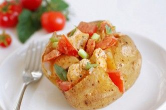 Chicken and tomato jacket