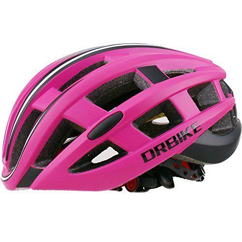 Drbike Road Bike Helmet Red Bicycle Helmet With Lights For Women