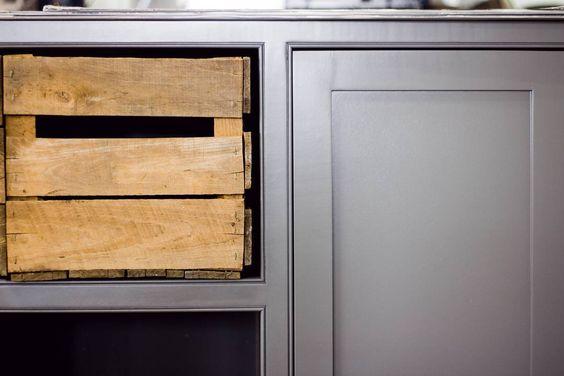 Grey cabinets. Custom made. . .   madeinmonroe.net   photo credit: Kristen Weyhrich  #cabinets #grey #gray #homeinteriors #interiordesign #greykitchen #greycabinets #classickitchen #kitchen #kitcheninspo