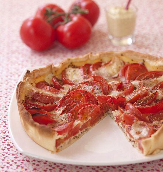 Tarte aux tomates, moutarde et fromage raclette - Recettes de cuisine Ôdélices