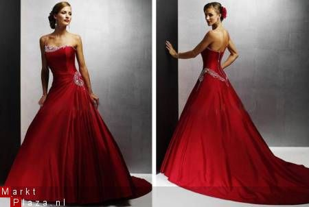 Red weddingdress - rode trouwjurk bruidsjurk in rood