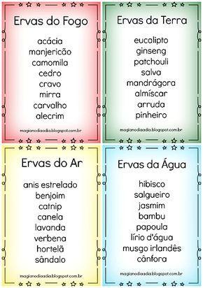 Magia no Dia a Dia: Os 4 elementos e as ervas  http://magianodiaadia.blogspot.com.br/2016/08/os-4-elementos-e-as-ervas.html