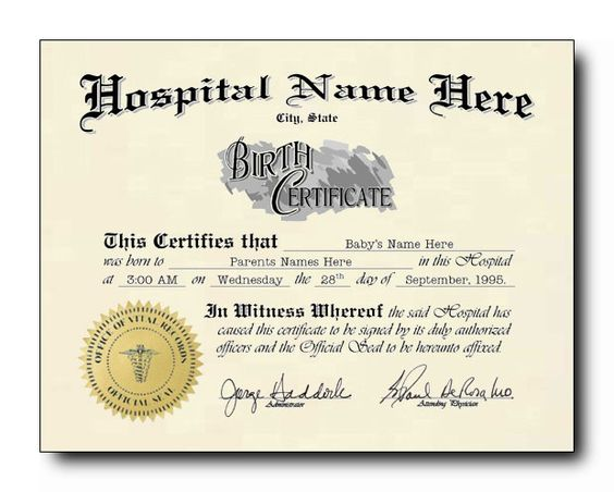 15 Birth Certificate Templates (Word \ PDF) - Template Lab 4201 - birth certificate word template