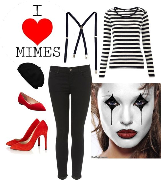 French Mime Costume Diy: Mime Costume, Halloween And Halloween Ideas On Pinterest