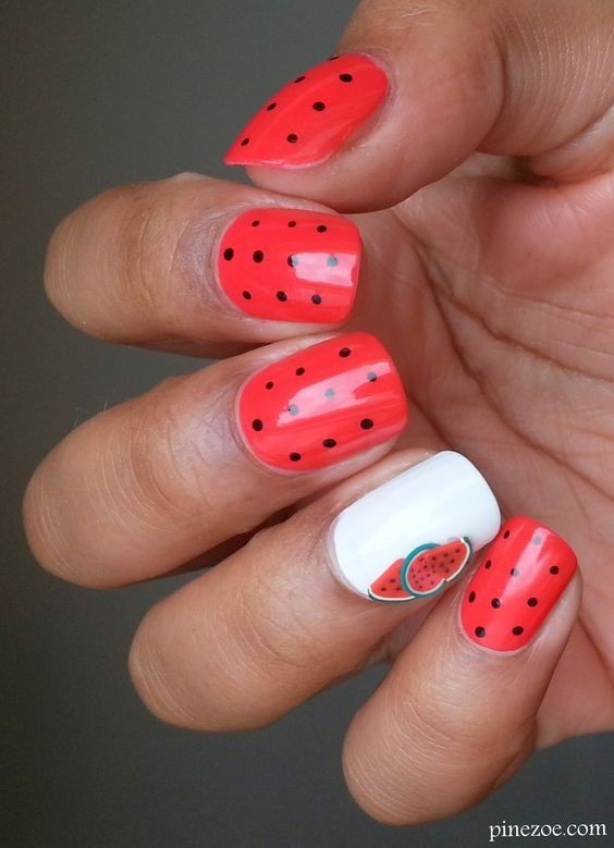 Summer Fruit Nail Art Ideas | ko-te.com by @evatornado |: