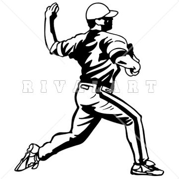 Sports Clipart Image of Boys Pitcher Color Youth Kids Baseball ...