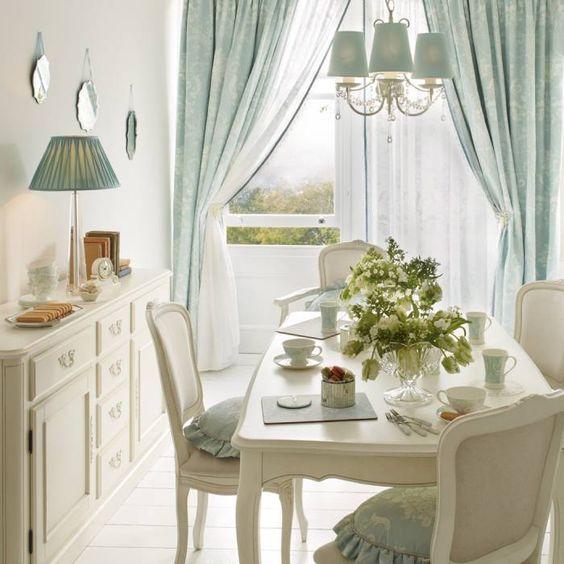 Fotos de comedores de estilo clásico : comedor josette azul ...