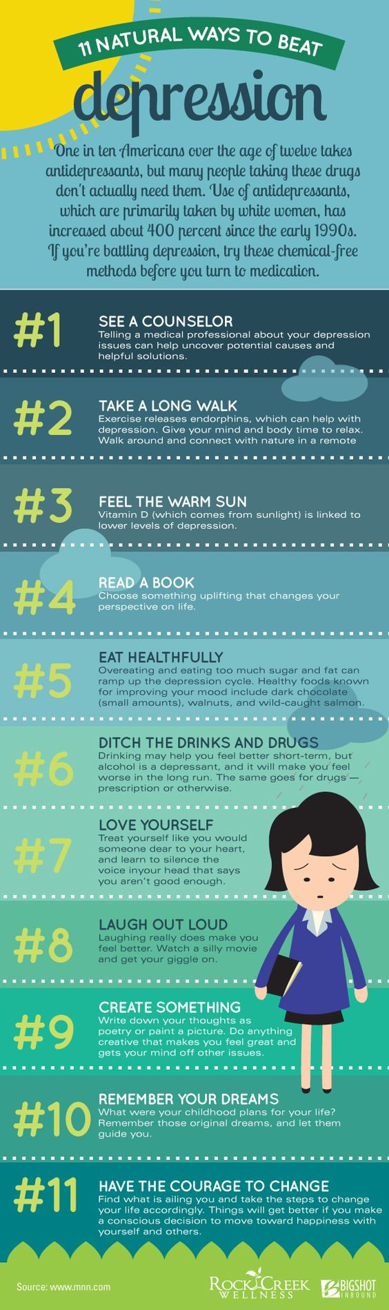 11 ways to beat depression