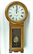 Oak Cased Wall Clock, Seth Thomas WWW.JJAMESAUCTIONS.COM