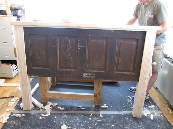 Ain't She Crafty: How To Build A Headboard From An Old Door