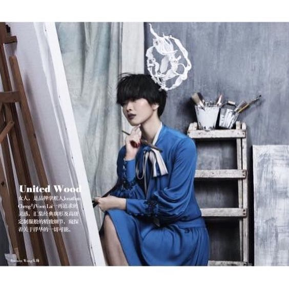 """Bremen Wong Millinery """" Painting """"Hat feature at @sistersmalaysia August issue 2016 .  Styled by Eng Seng  @yongshen82  Photographer by @june_ng90  Make up by @chufan  Hair by Chaiki  Outfit by @united_wood"""