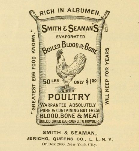 poultry feed sack 19th century