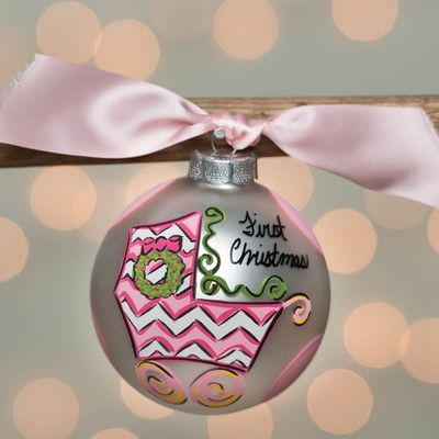 """This """"Baby's First Christmas Ornament"""" will be a keepsake for sure.  It is a great gift!!!  Please go and check out our website at www.burlap4everything.com.  Thank you!!!!"""