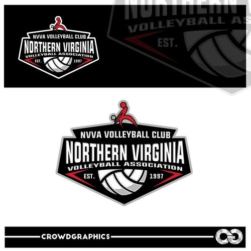 Nvva Create A New Logo For One Of The Largest Volleyball Organizations In The Usa Northern Virginia Volleyball Association Nvv Logos Volleyball Sports Logo