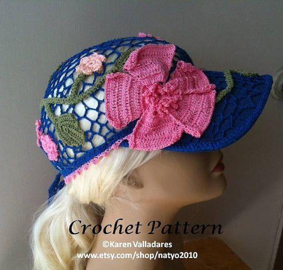 INSTANT DOWNLOAD Paradise Ponytail Baseball Cap Crochet Pattern-Tutorial
