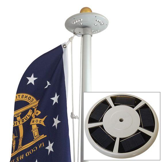 Solar Starlight Flagpole Light #FlagCo #SolarStarlight #FlagpoleLighting