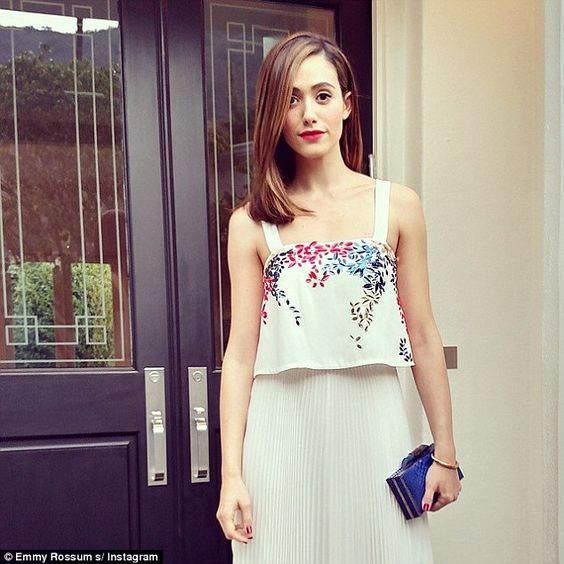 'TGIF!' Emmy took to Instagram to show off her stunning look, as well as thank her hair an...