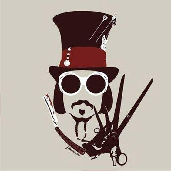 Los principales personajes de Johnny Depp en una imagen.