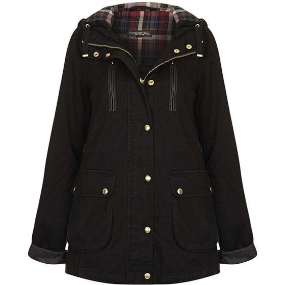 TOPSHOP Tall Hooded Lightweight Jacket