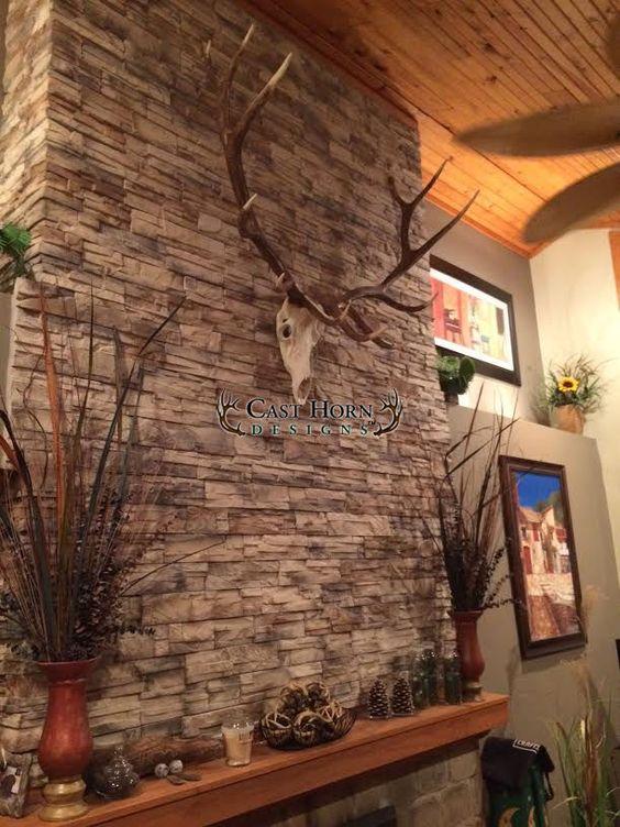 Elk mount fireplace - photo#14
