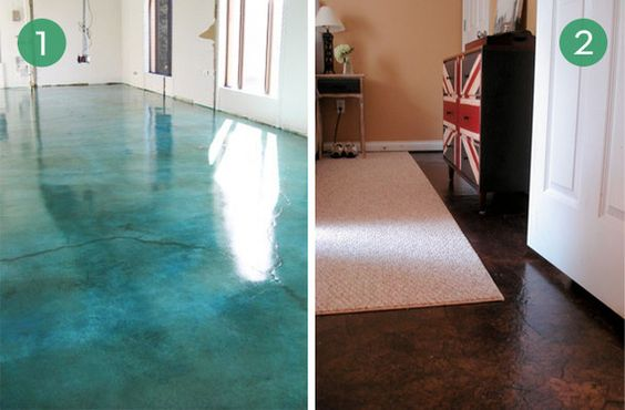 10 easy and inexpensive diy floor finishes brown paper for Unusual inexpensive flooring ideas