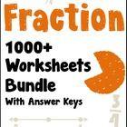 Fractions Worksheets! Enjoy 1000+ fraction worksheets!  I've listed below all kinds, categorized into groups for easier reference.  Each kind has ...