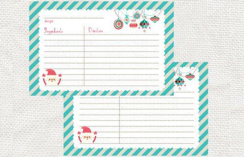 Free Printable Christmas Recipe Card Blank Printable Recipe - christmas wish list form