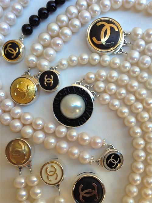 Vintage Chanel button bracelets. Recreating Fashion From Goodwill Finds. Patti Montomery
