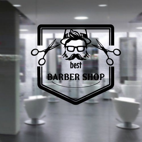 Barber And Beauty Shop : Sticker Art Decor Hairdressing Hair Salon Style Beauty Barber Shop ...