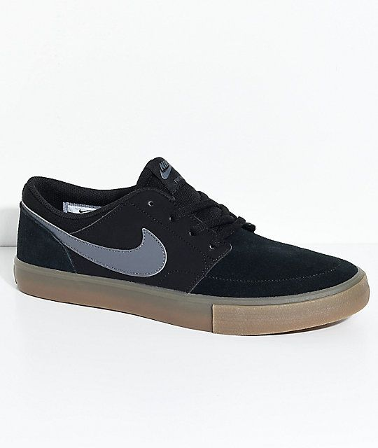 Nike Sb Portmore Ii Black Gum Shoes Zumiez In 2020 Nike Sb Mens Vans Shoes Mens Skate Shoes