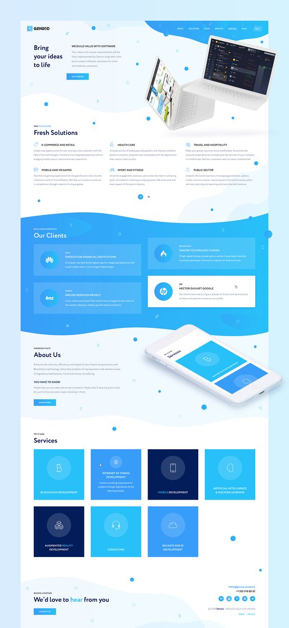 UI/UX Design for the Blockchain & Cryptocurrency Project.Company Services:– Blockchain development– Artificial Intelligence & Machine Learning technologies development– Mobile technologies– Big Data and BI technologies development