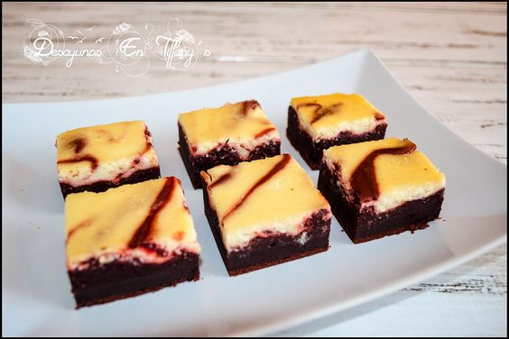 Desayunos en Tiffany´s: Brownies de terciopelo rojo y queso