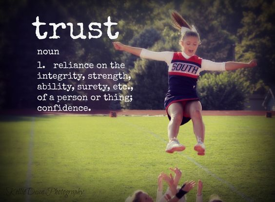 trust, quote, cheerleader, flyer, cheerleading stunt ...