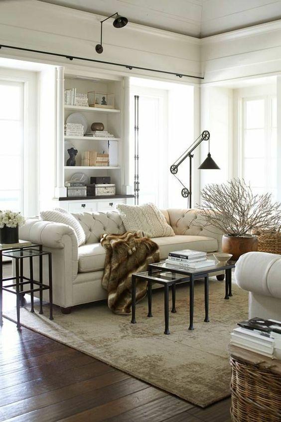 wohnzimmer lampe industrielle stehlampe ovaler teppich runder - hängelampen für wohnzimmer