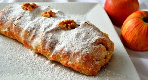 Rollo de hojaldre relleno de manzana | Cocina