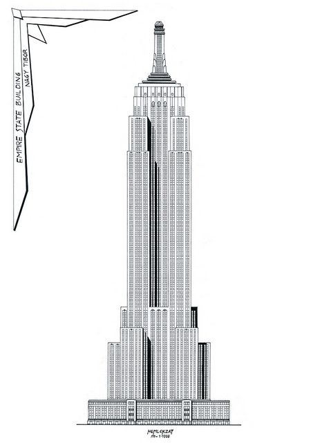 empire state building free colouring pages
