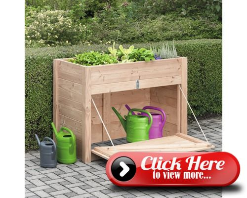 Raised Bed Konsta With Cabinet 127x69x95 Cm Douglas Fir Douglas Fir Raised Beds Fir