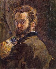 Self-Portrait-Jean-Baptiste Armand Guillaumin born in Paris.In the  Académie Suisse in 1861, he met Paul Cézanne and Camille Pissarro with whom he maintained lifelong friendships. While he never achieved the stature of these two, his influence on their work was significant.