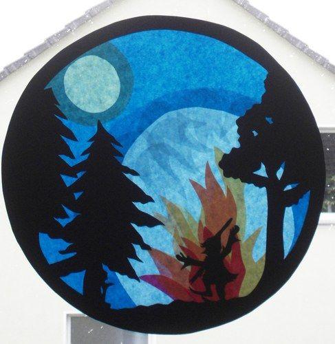 m rchen fensterbild transparente waldorf aschenputtel rumpelstilzchen sterntaler ebay. Black Bedroom Furniture Sets. Home Design Ideas