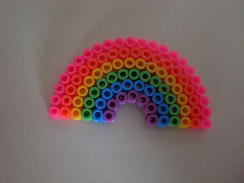 Regenboog | Strijkkralen patroon | Pinterest | Perler Beads, Beads ...