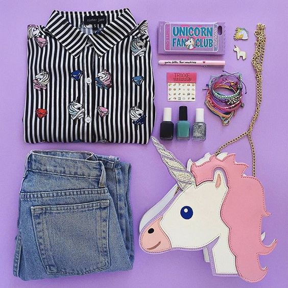 So we definitely own a ton of unicorn, without even counting our @lisa_frank collection #flatlay #flatlays #flatlayapp www.flat-lay.com
