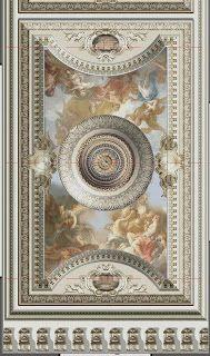 Demeures Peintes: A classical ceiling